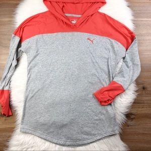 Puma Ladies Hooded Colorblock Long Sleeve Pullover
